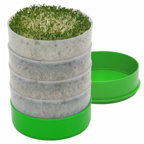 Time for Treats VKP Brans Kitchen Crop Seed Sprouter,  6  Diameter Trays, 1 Oz Alfalfa Perspective: front