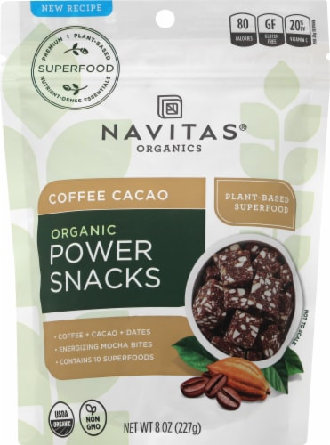 Navitas Coffee Cacao Power Snack Perspective: front
