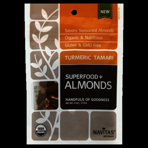 Navitas Naturals Turmeric Tamari  Superfood Almonds Perspective: front