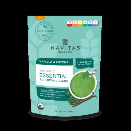 Navitas Organics Vanilla & Greens Essential Blend Perspective: front