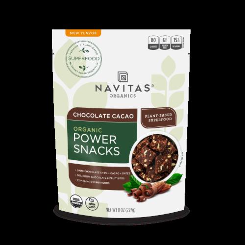 Navitas Organics Chocolate Cacao Power Snacks Perspective: front