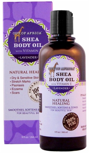 Out Of Africa  Shea Butter Body Oil Lavender Perspective: front