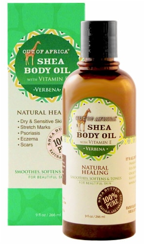 Out Of Africa Verbena Shea Butter Body Oil Perspective: front