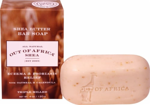 Out Of Africa Eczema & Psoriasis Relief Shea Butter Bar Soap Perspective: front