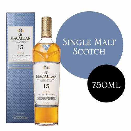 Macallan 15 Year Fine Oak Highland Single Malt Scotch Whisky Perspective: front