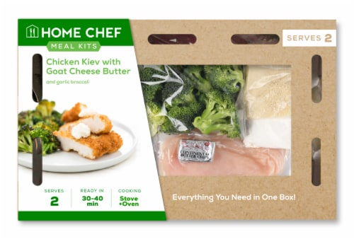 Home Chef Meal Kit Chicken Kiev with Goat Cheese Butter Perspective: front