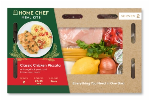 Home Chef Meal Kit Classic Chicken Piccata Perspective: front
