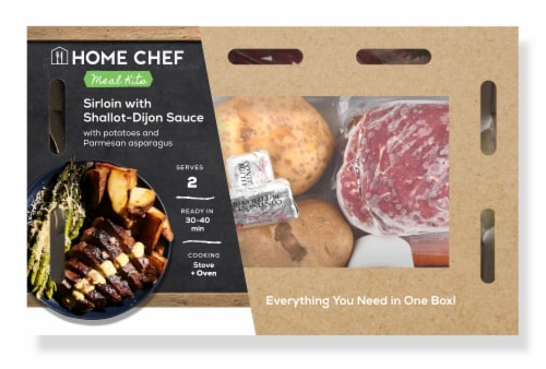 Home Chef Meal Kit Sirloin with Shallot-Dijon Sauce Perspective: front