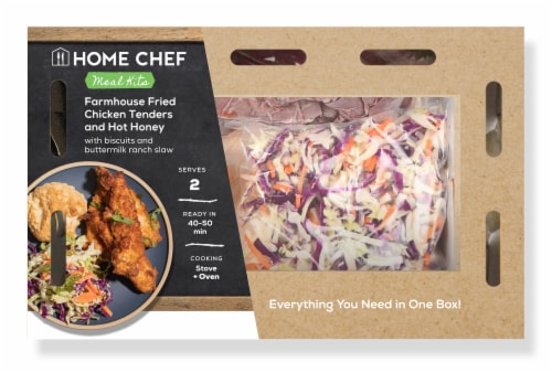 Home Chef Meal Kit Farmhouse Fried Chicken Tenders with Hot Honey Perspective: front