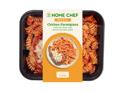Home Chef Heat and Eat Chicken Parmigiana With Rotini Marinara Perspective: front