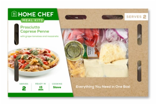 Home Chef Meal Kit Prosciutto Caprese Penne Perspective: front
