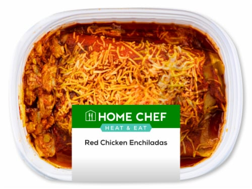 Home Chef Heat and Eat Red Chicken Enchilada Perspective: front