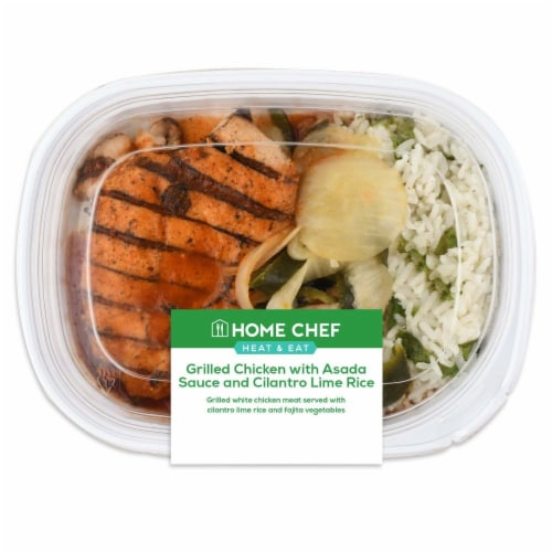 Home Chef Heat & Eat Chicken Asada with Cilantro Lime Rice Perspective: front