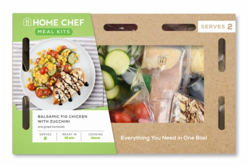 Home Chef Meal Kit Balsamic Fig Chicken With Zucchini And Grape Tomatoes Perspective: front