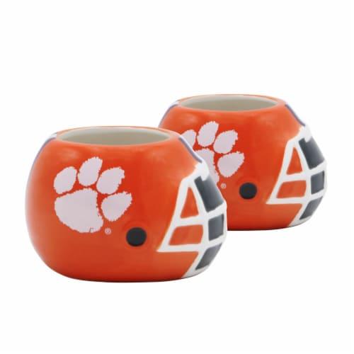 Clemson Tigers Team Pride Mini Ceramic Helmet Planters Perspective: front