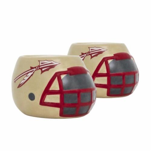 Florida State Seminoles Team Pride Mini Ceramic Helmet Planters Perspective: front