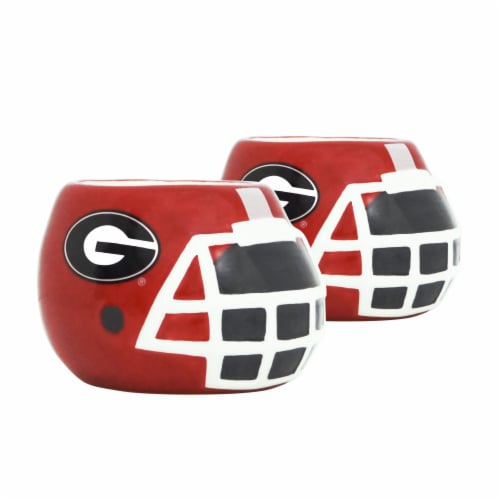 Georgia Bulldogs Team Pride Mini Ceramic Helmet Planters Perspective: front