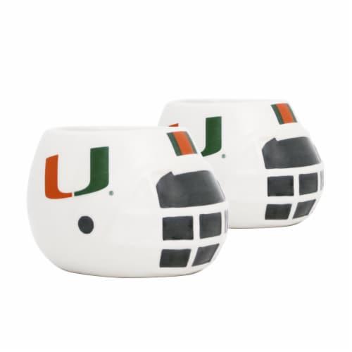 Miami Hurricanes Team Pride Mini Ceramic Helmet Planters Perspective: front