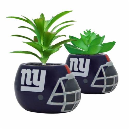 NFL New York Giants Team Pride Mini Faux Succulents in Ceramic Helmet Planters Perspective: front