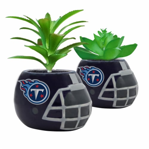 NFL Tennessee Titans Team Pride Mini Faux Succulents in Ceramic Helmet Planters Perspective: front