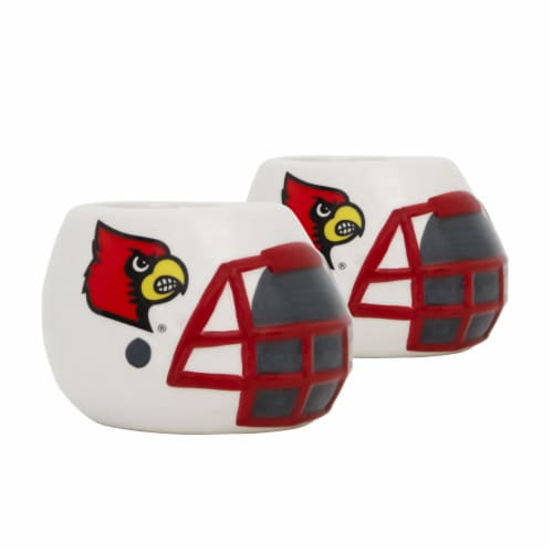 Louisville Cardinals Team Pride Mini Ceramic Helmet Planters Perspective: front