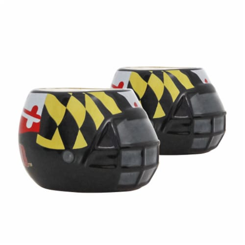 Maryland Terrapins Team Pride Mini Ceramic Helmet Planters Perspective: front