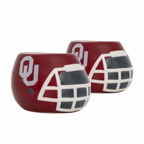Oklahoma Sooners Team Pride Mini Ceramic Helmet Planters Perspective: front
