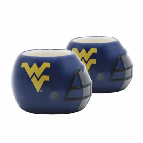 West Virginia Mountaineers Team Pride Mini Ceramic Helmet Planters Perspective: front