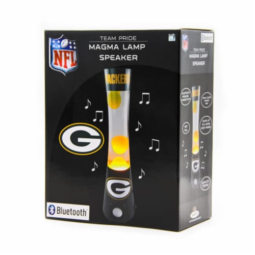 NFL Green Bay Packers Team Pride Magma Lamp Speaker Perspective: front