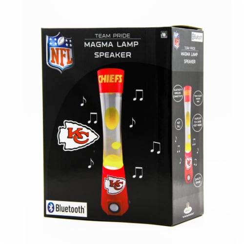 NFL Kansas City Chiefs Team Pride Magma Lamp Speaker Perspective: front