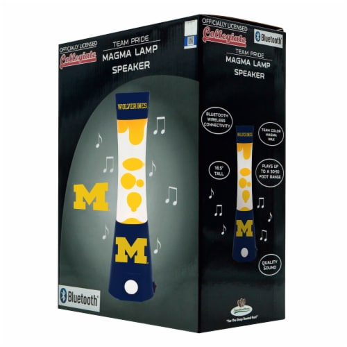 Michigan Wolverines Team Pride Magma Lamp Speaker Perspective: front
