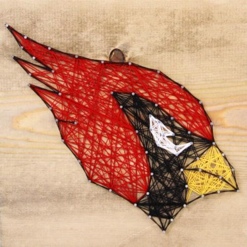 Arizona Cardinals Team Pride String Art Craft Kit Perspective: front