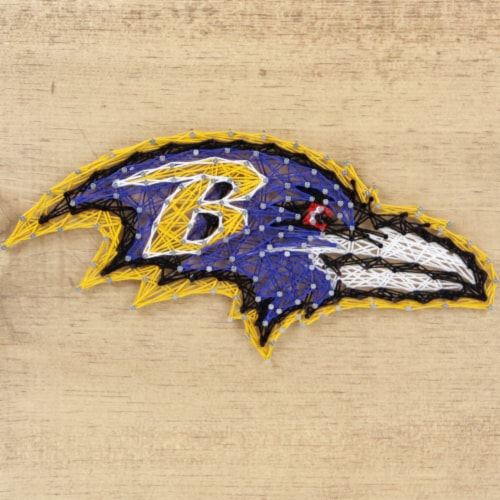 Baltimore Ravens Team Pride String Art Craft Kit Perspective: front
