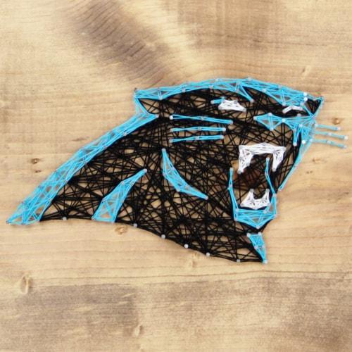 Carolina Panthers Team Pride String Art Craft Kit Perspective: front