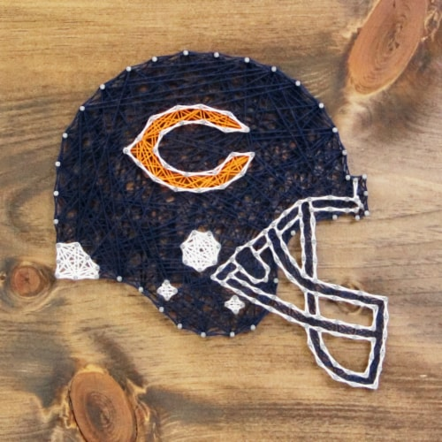 Chicago Bears Team Pride String Art Craft Kit Perspective: front