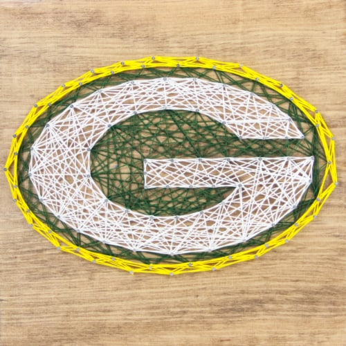 Green Bay Packers Team Pride String Art Craft Kit Perspective: front