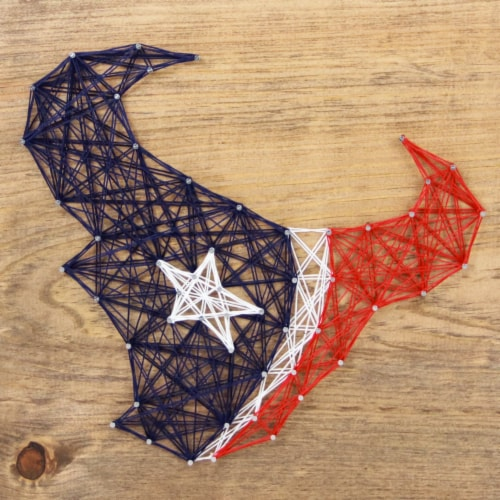 Houston Texans Team Pride String Art Craft Kit Perspective: front