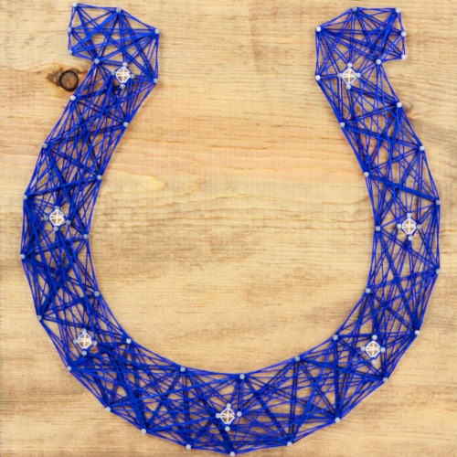 Indianapolis Colts Team Pride String Art Craft Kit Perspective: front
