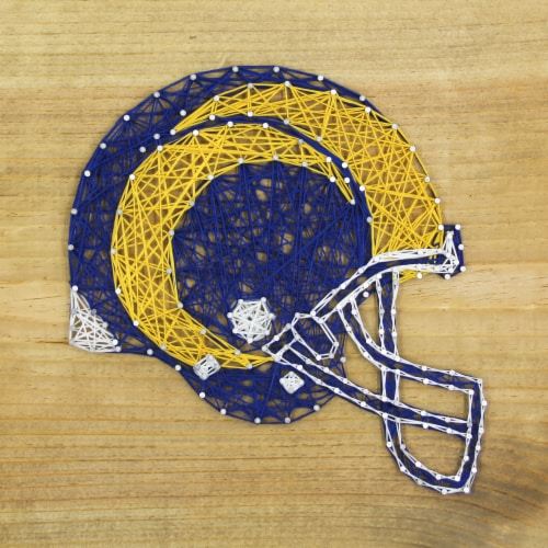 Los Angeles Rams Team Pride String Art Craft Kit Perspective: front