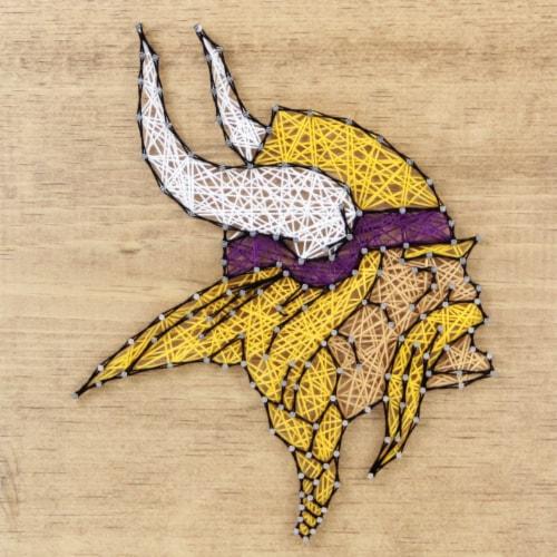 Minnesota Vikings Team Pride String Art Craft Kit Perspective: front