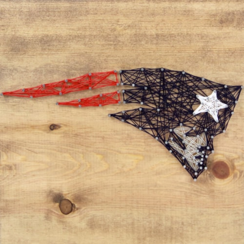 New England Patriots Team Pride String Art Craft Kit Perspective: front