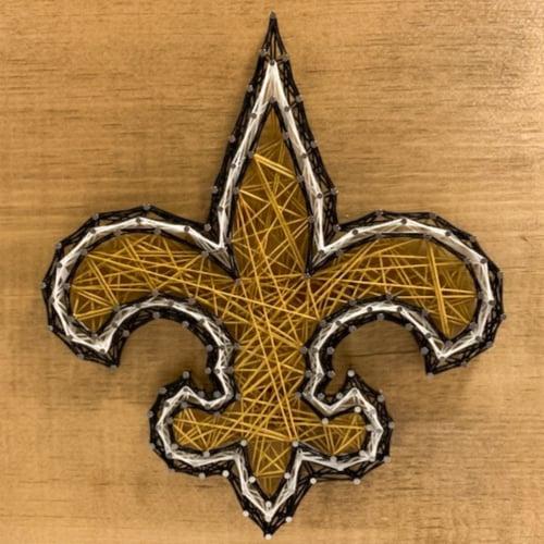 New Orleans Saints Team Pride String Art Craft Kit Perspective: front
