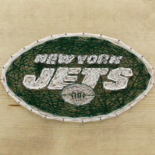 New York Jets Team Pride String Art Craft Kit Perspective: front
