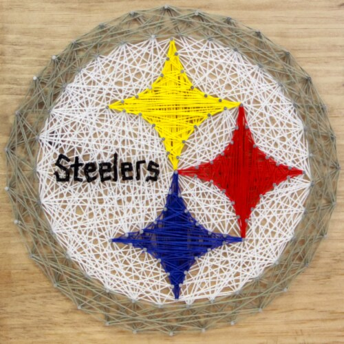 Pittsburgh Steelers Team Pride String Art Craft Kit Perspective: front