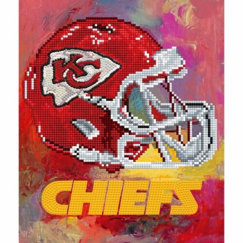 Kansas City Chiefs NFL Team Pride Diamond Painting Craft Kit Perspective: front