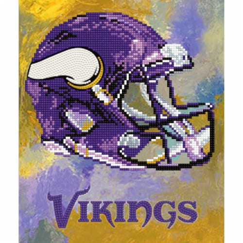 Minnesota Vikings NFL Team Pride Diamond Painting Craft Kit Perspective: front