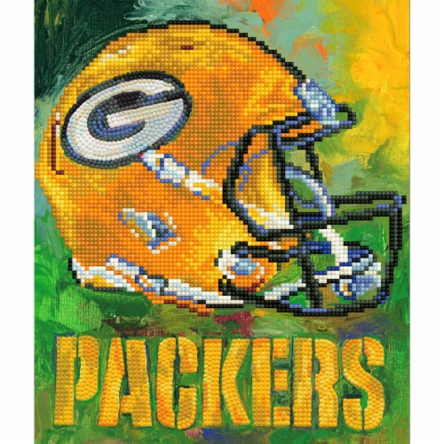 Green Bay Packers NFL Team Pride Diamond Painting Craft Kit Perspective: front