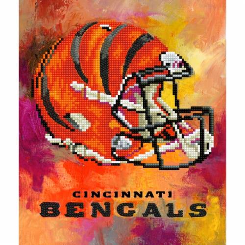 Cincinnati Bengals NFL Team Pride Diamond Painting Craft Kit Perspective: front