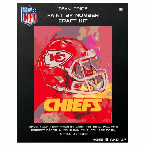NFL Kansas City Chiefs Team Pride Paint by Number Craft Kit Perspective: front