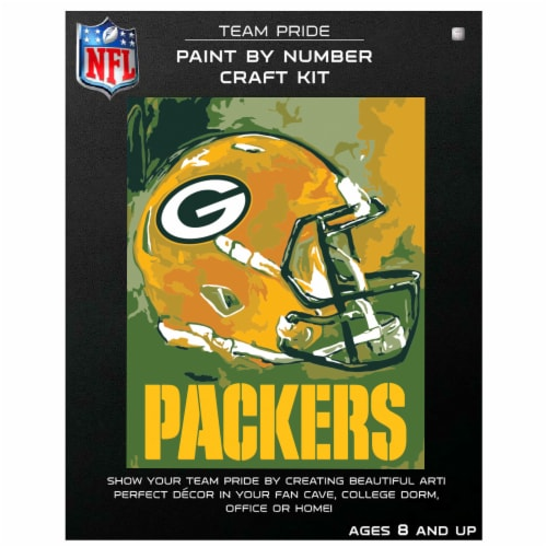 NFL Green Bay Packers Team Pride Paint by Number Craft Kit Perspective: front